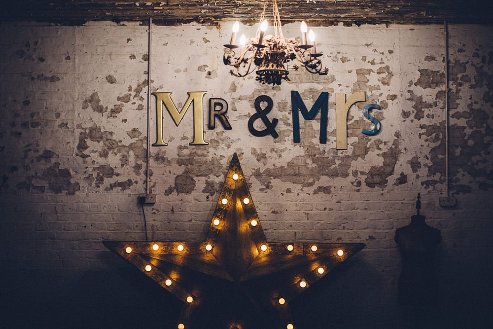 Mr & Mrs Star Light Up Lights Star MC Motors Wedding LoveStruck Photography