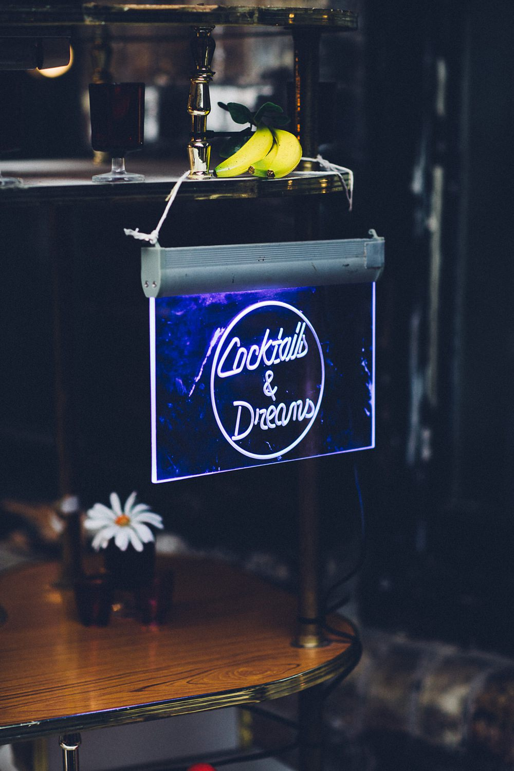 Cocktails & Dreams Neon Sign MC Motors Wedding LoveStruck Photography