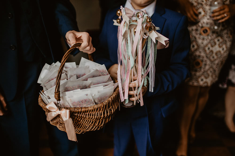 Confetti Basket Envelopes Wands Ribbons Norwich Cathedral Wedding Camilla Andrea Photography