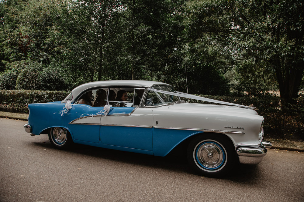 Osborne House Isle of Wight Natural Classic Bridal Transport Vintage Car Blue | Timeless Royal Inspired Seaside Wedding Holly Cade Photography