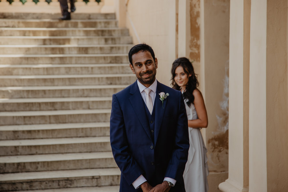 Osborne House Isle of Wight Natural Classic Bride Groom Ceremony First Look | Timeless Royal Inspired Seaside Wedding Holly Cade Photography