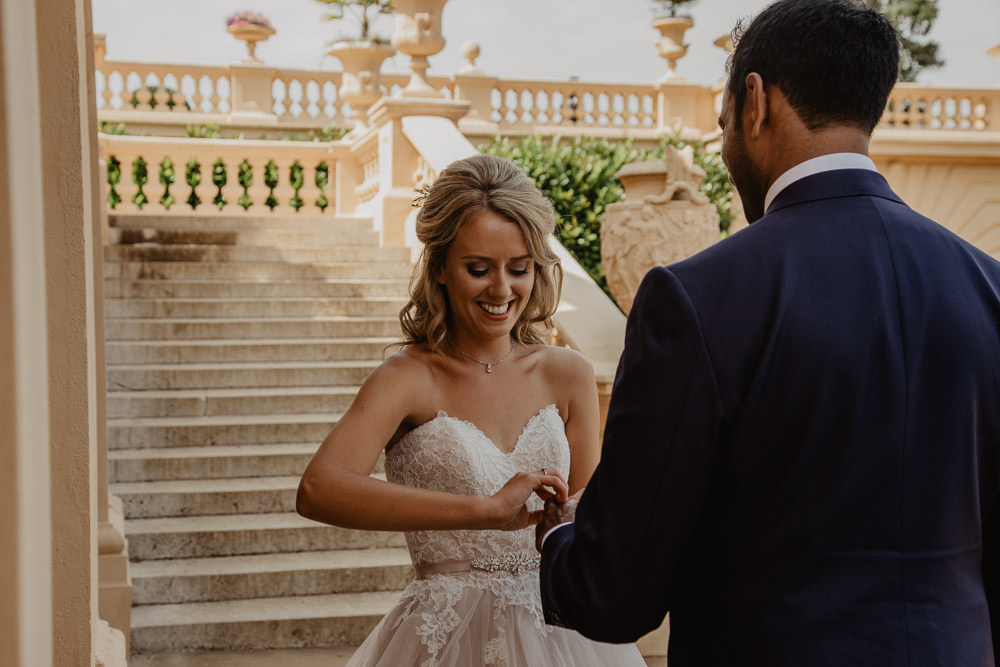 Osborne House Isle of Wight Natural Classic Bride Blush Pastel Bouquets Stella York Dress Groom Outdoor Ceremony Rings | Timeless Royal Inspired Seaside Wedding Holly Cade Photography