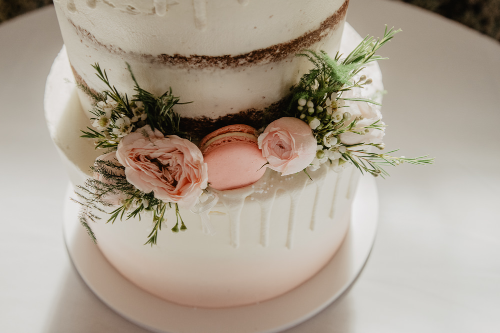 Osborne House Isle of Wight Natural Classic Blush Pastel Wooden Rustic Decor Wedding Breakfast Semi Naked Cake Macarons Fresh Flowers | Timeless Royal Inspired Seaside Wedding Holly Cade Photography