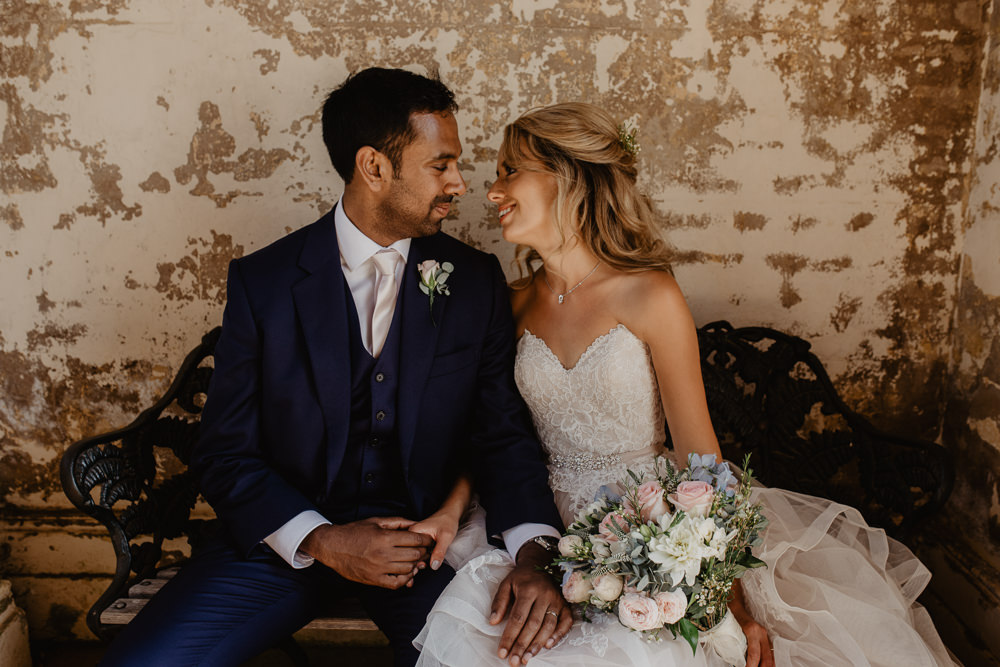 Osborne House Isle of Wight Natural Classic Blush Pastel Bridal Bouquet Bride Groom Romantic Portraits | Timeless Royal Inspired Seaside Wedding Holly Cade Photography