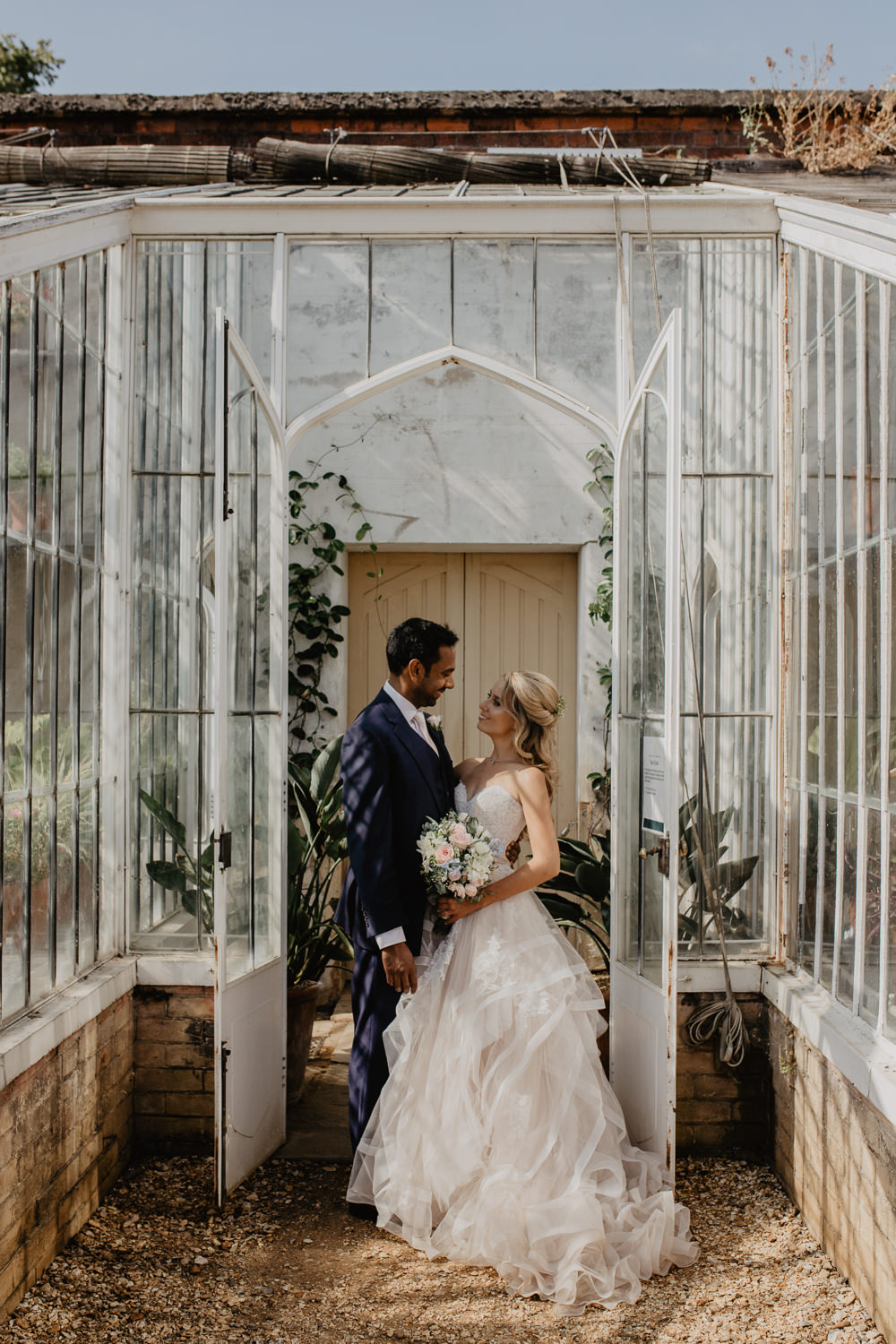 Osborne House Isle of Wight Natural Classic Bride Groom Stella York Dress Pink White Bouquet | Timeless Royal Inspired Seaside Wedding Holly Cade Photography