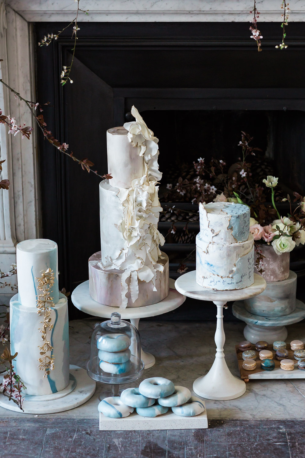 Modern Dance Ballet Inspired Editorial Fine Art Somerley House Kate Burt Cakes | Romantic Soft Wedding Ideas Siobhan H Photography