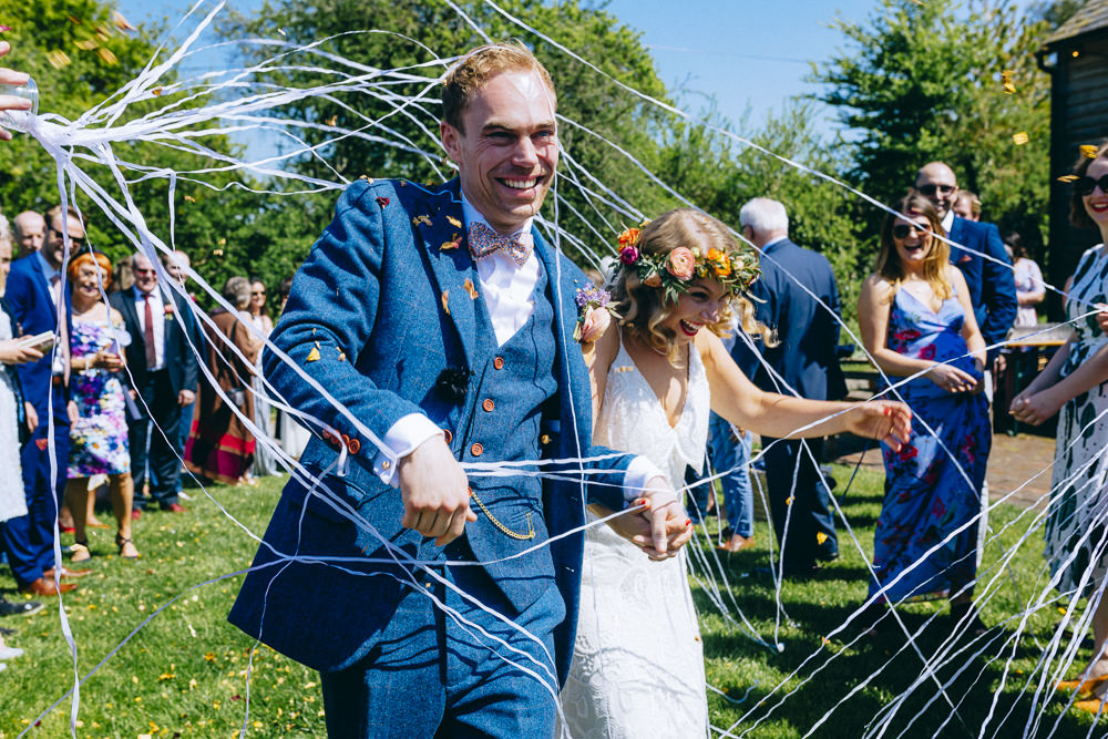 Silly String Bride Groom Rue De Seine Wedding Dress Bride Curious Rose Photography