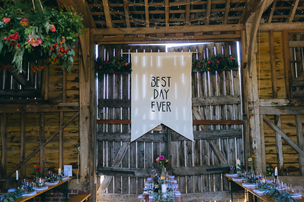 Best Day Ever Fabric Banner Pennant Rue De Seine Wedding Dress Bride Curious Rose Photography