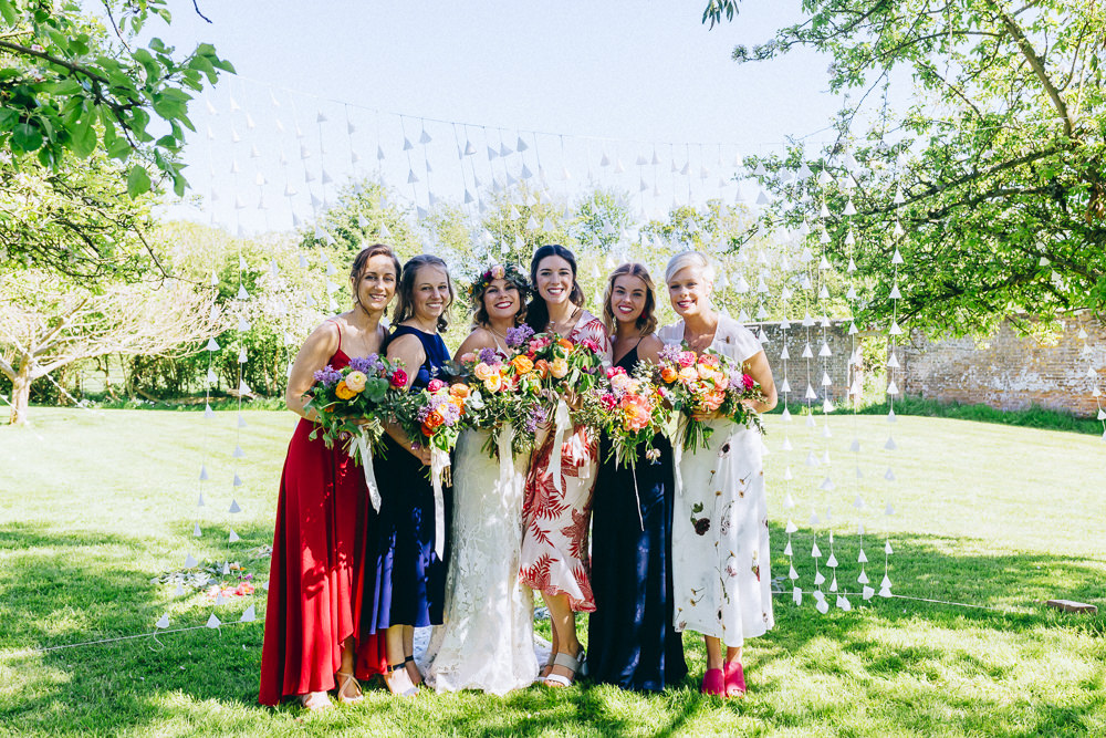 Mismatched Bridesmaid Dresses Rue De Seine Wedding Dress Bride Curious Rose Photography