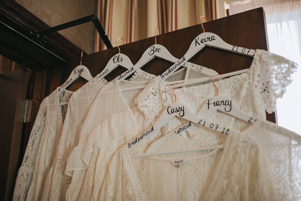 Custom Bridesmaid Dress Hangers Personalised Summer Boho Outdoor Wedding A Little Picture