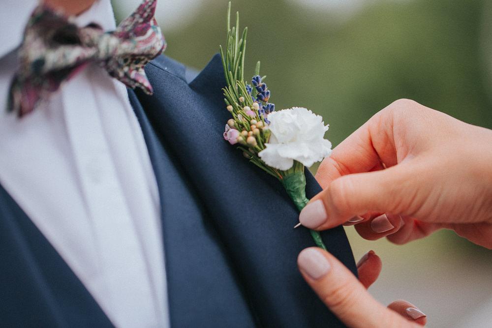 Groom Groomsmen Buttonhole Flowers Herbs Summer Boho Outdoor Wedding A Little Picture