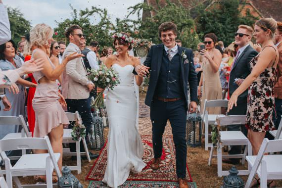 Persian Rug Aisle Ceremony Decor Summer Boho Outdoor Wedding A Little Picture