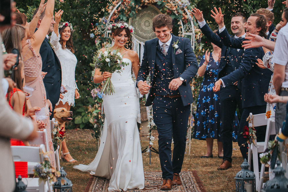Confetti Throw Summer Boho Outdoor Wedding A Little Picture