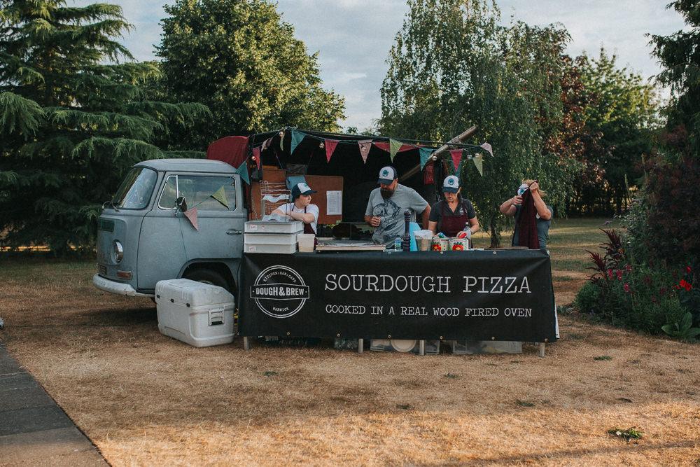 Pizza Food Truck Van Summer Boho Outdoor Wedding A Little Picture