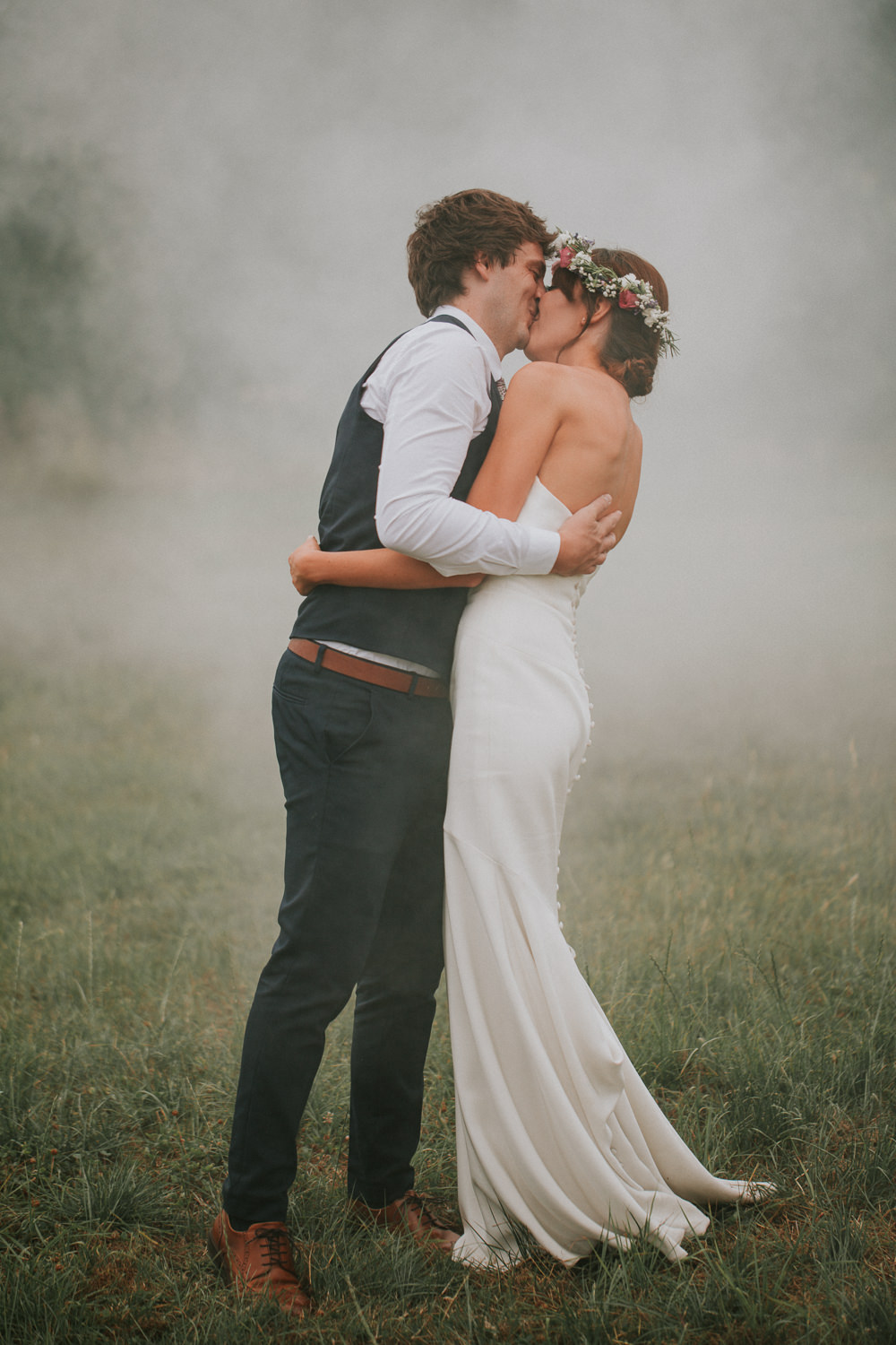 Smoke Bomb Summer Boho Outdoor Wedding A Little Picture