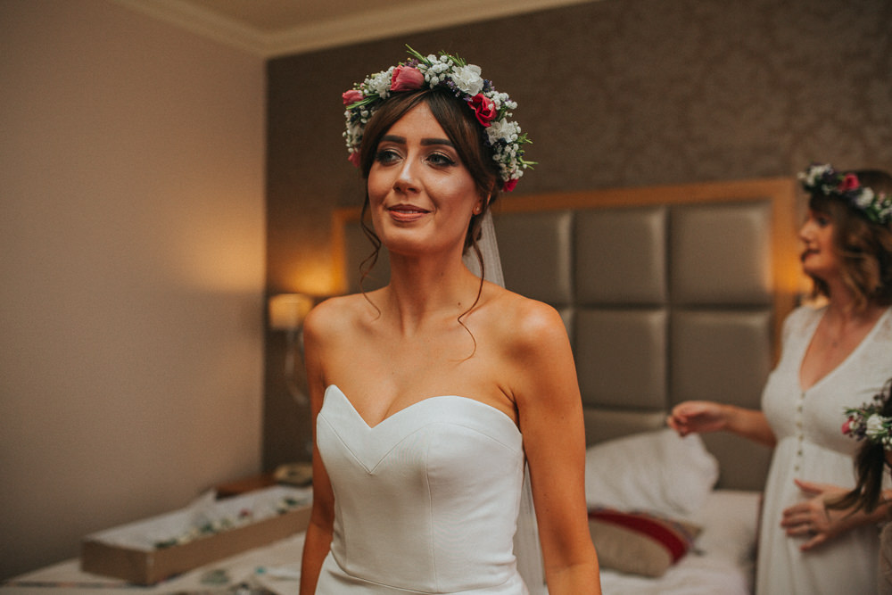 Bride Bridal Flower Crown Hair Make Up Summer Boho Outdoor Wedding A Little Picture