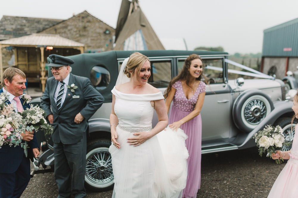 Dress Gown Bride Bridal Off Shoulder Bardot Belt Wellbeing Farm Wedding Anna Wood Photography