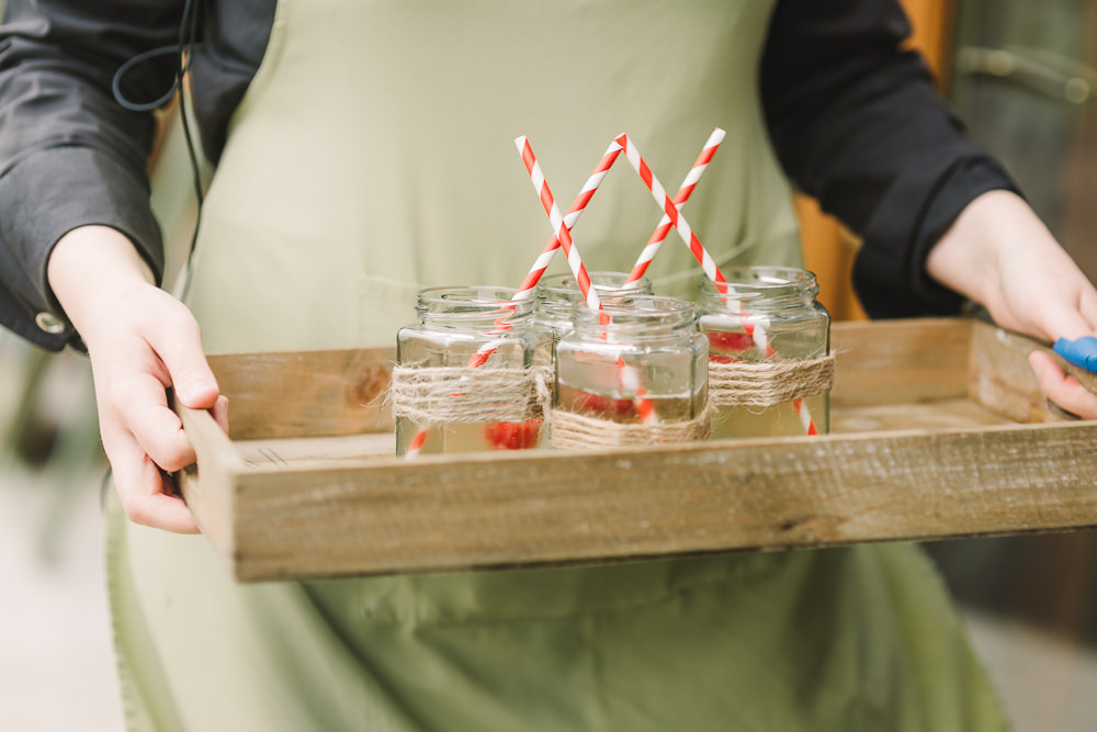 Jam Jar Drinks Wellbeing Farm Wedding Anna Wood Photography