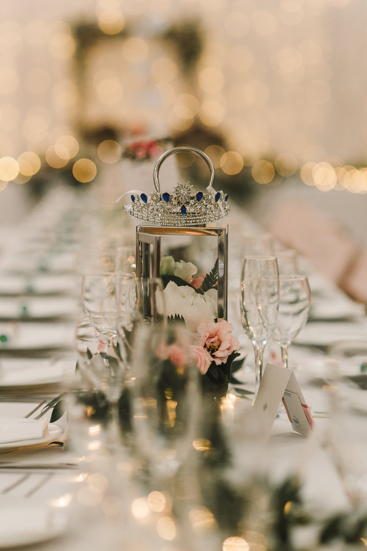 Centrepiece Lantern Flowers Table Wellbeing Farm Wedding Anna Wood Photography