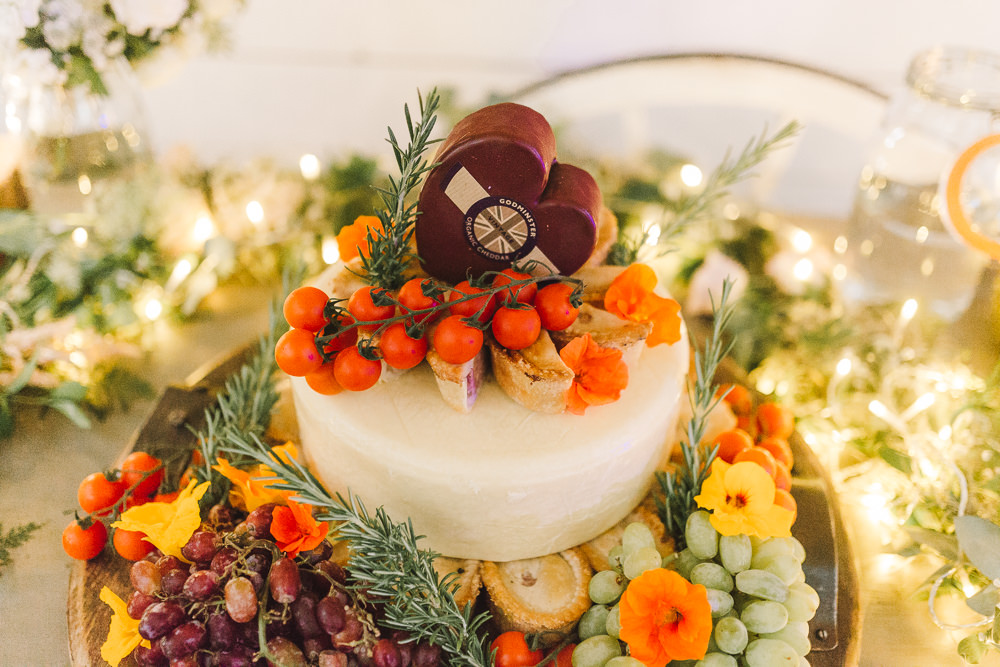Cheese Tower Cake Stack Fruit Flowers Wellbeing Farm Wedding Anna Wood Photography