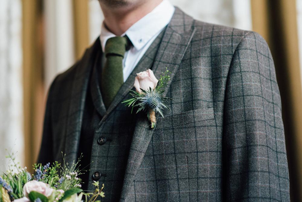 Check Suit Three Piece Tweed Westerham Golf Club Wedding Sarah Fleet Photography