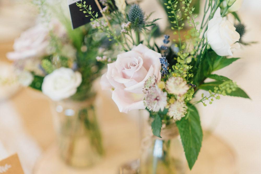 Bud Vase Pink Blush Rose Westerham Golf Club Wedding Sarah Fleet Photography