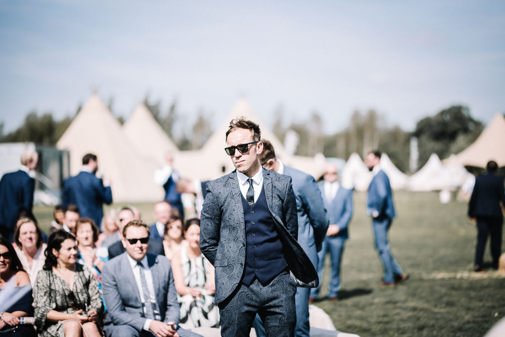 Groom Suit Blue Waistcoat Alcott Weddings Oobaloos Photography