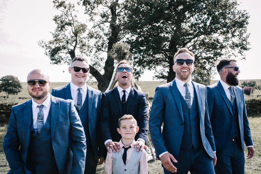Groom Groomsmen Blue Suits Alcott Weddings Oobaloos Photography