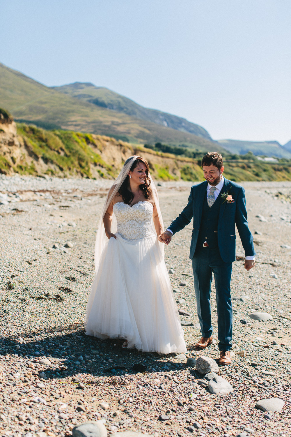 Bride Bridal Separates Sweetheart Neckline Strapless Tulle Floor Length Veil Three Piece Waistcoat Groom Bach Wen Farm Wedding Jessica O'Shaughnessy Photography
