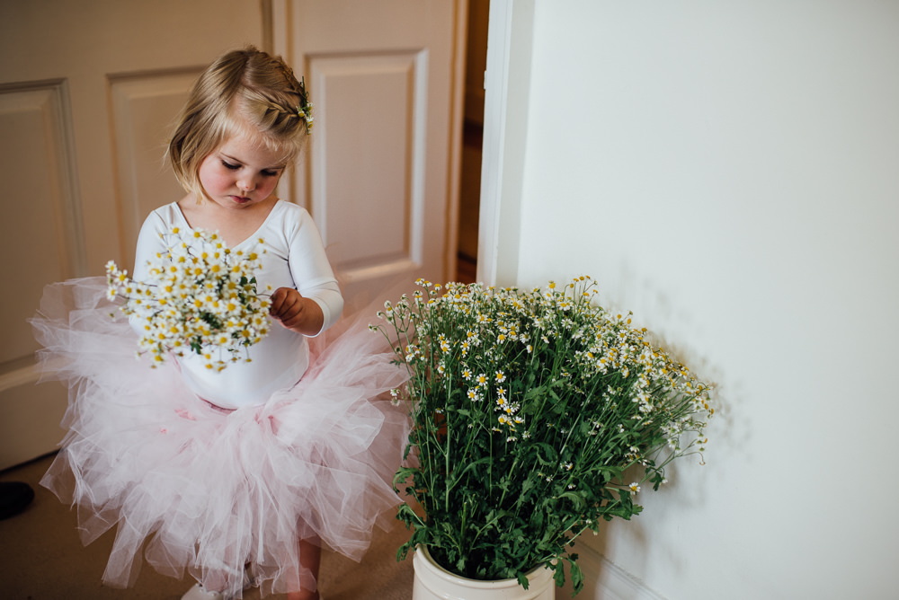 Flower Girl Tutu Dress Skirt Top Pink Barley Wood House Wedding The Shannons Photography