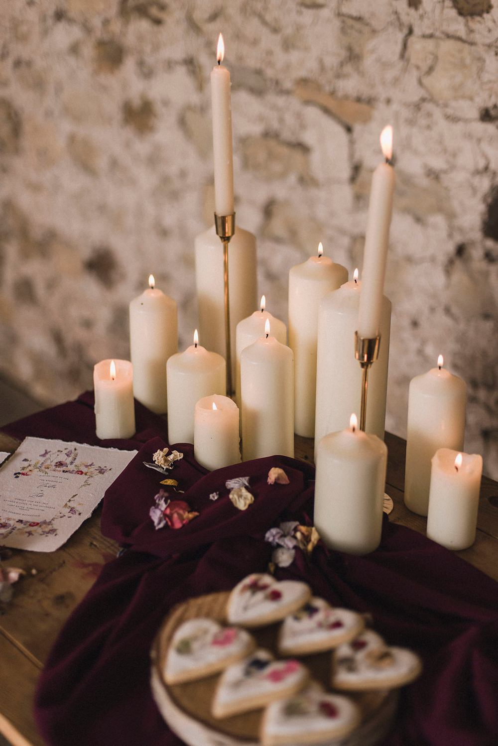 Candles Romantic Lighting Boho Woodland Wedding Ideas Camp Katur Emily Olivia Photography