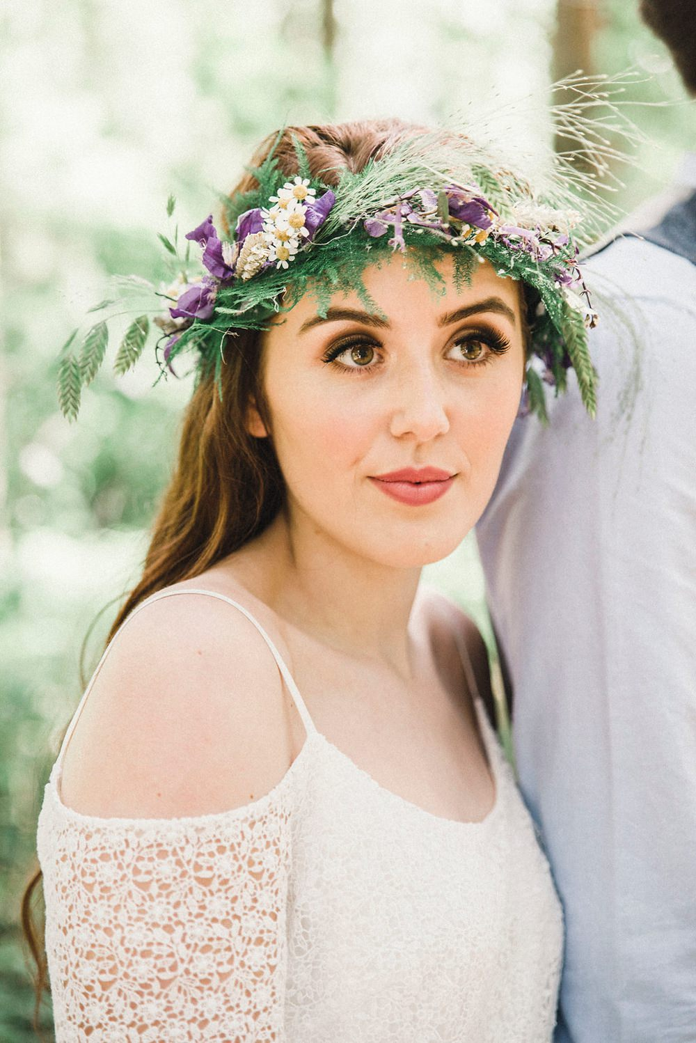 Bride Bridal Make Up Beauty Boho Woodland Wedding Ideas Camp Katur Emily Olivia Photography