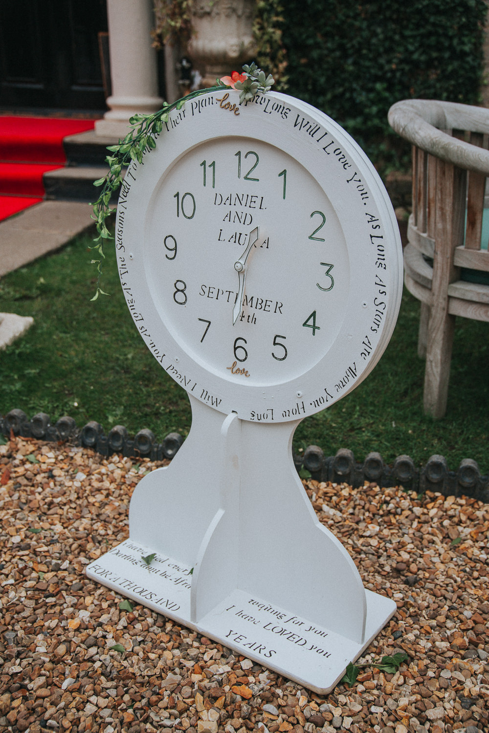 Clock Sign Signage Time Timing Crab Lobster Wedding A Little Picture