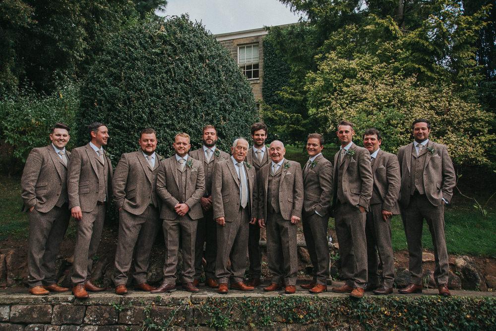Groom Groomsmen Suits Brown Tweed Crab Lobster Wedding A Little Picture