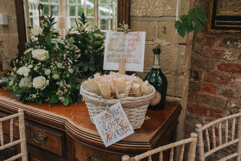 Confetti Basket Cones Crab Lobster Wedding A Little Picture