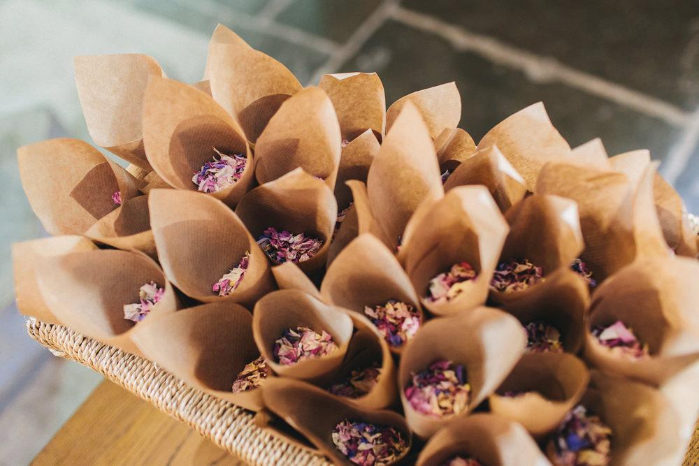 Confetti Cones Floral Farm Wedding Jessica O'Shaughnessy Photography