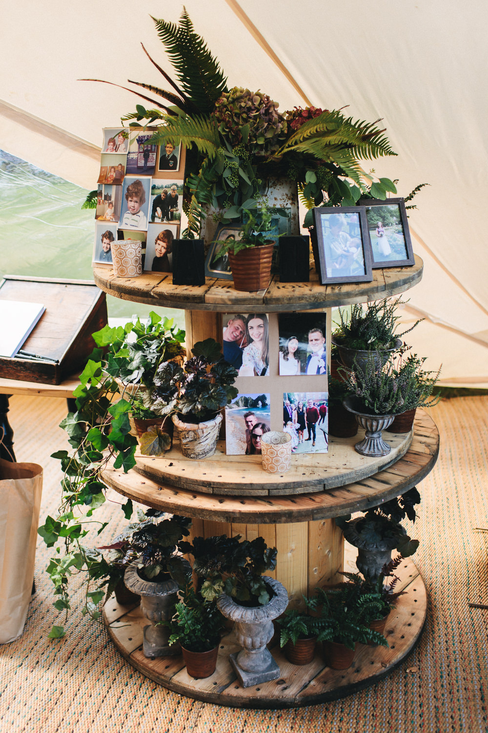 Reel Photographs Greenery Flowers Display Floral Farm Wedding Jessica O'Shaughnessy Photography