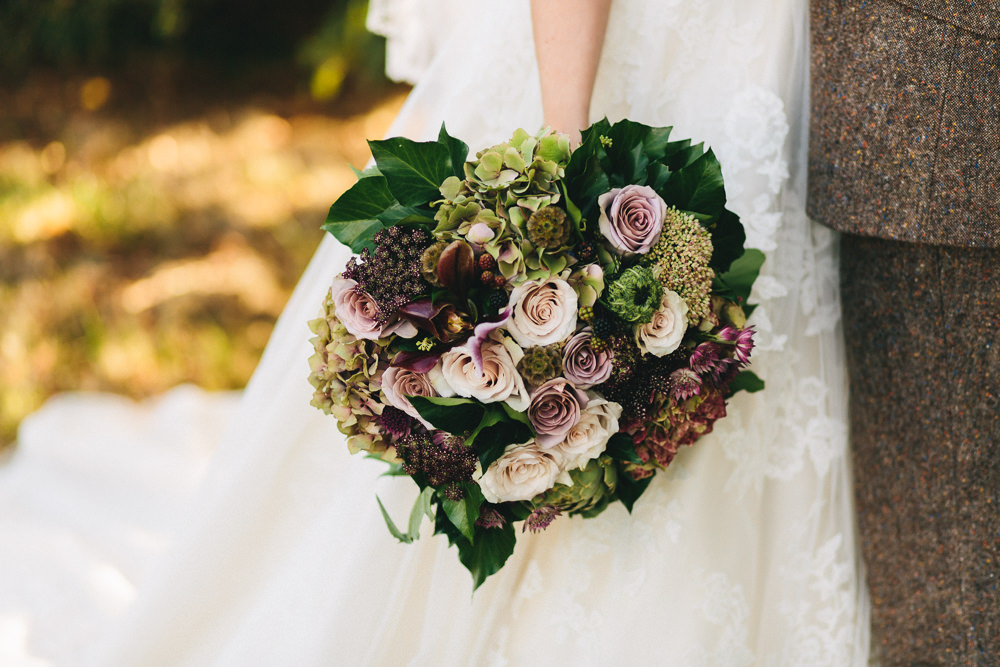 Large Oversize Bouquet Pink Cream Rose Leaf Greenery Floral Farm Wedding Jessica O'Shaughnessy Photography