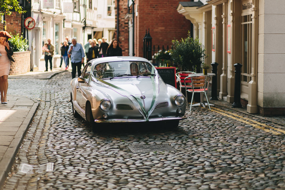 Vintage Car Transport Floral Farm Wedding Jessica O'Shaughnessy Photography