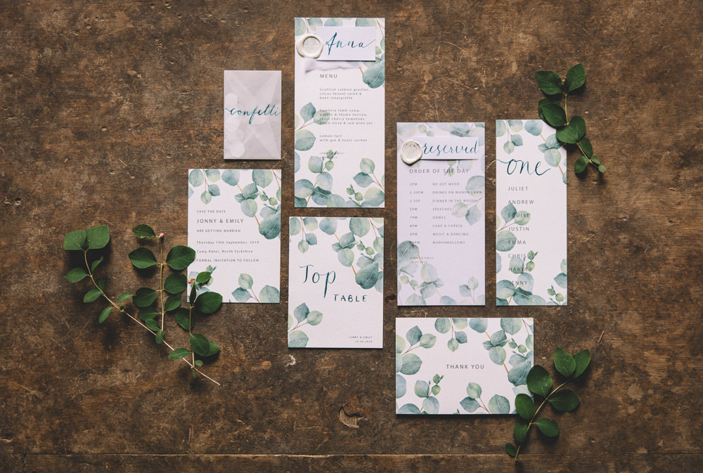Stationery Invites Invitations Botanical Greenery Suite Free Spirited Wedding Ideas Woodland Lumiere Photographic