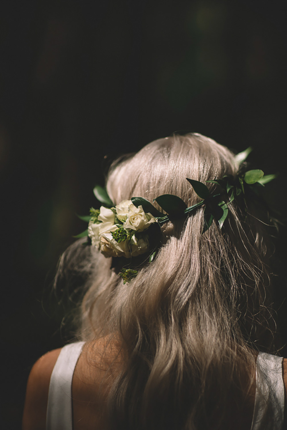Bride Bridal Flower Crown Greenery Foliage Halo Headdress Free Spirited Wedding Ideas Woodland Lumiere Photographic