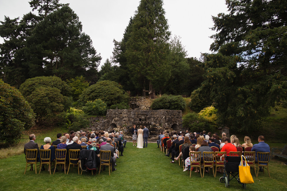 Outdoor Ceremony Walcot Hall Fun Laughter Relaxed Wedding Chris Barber Photography