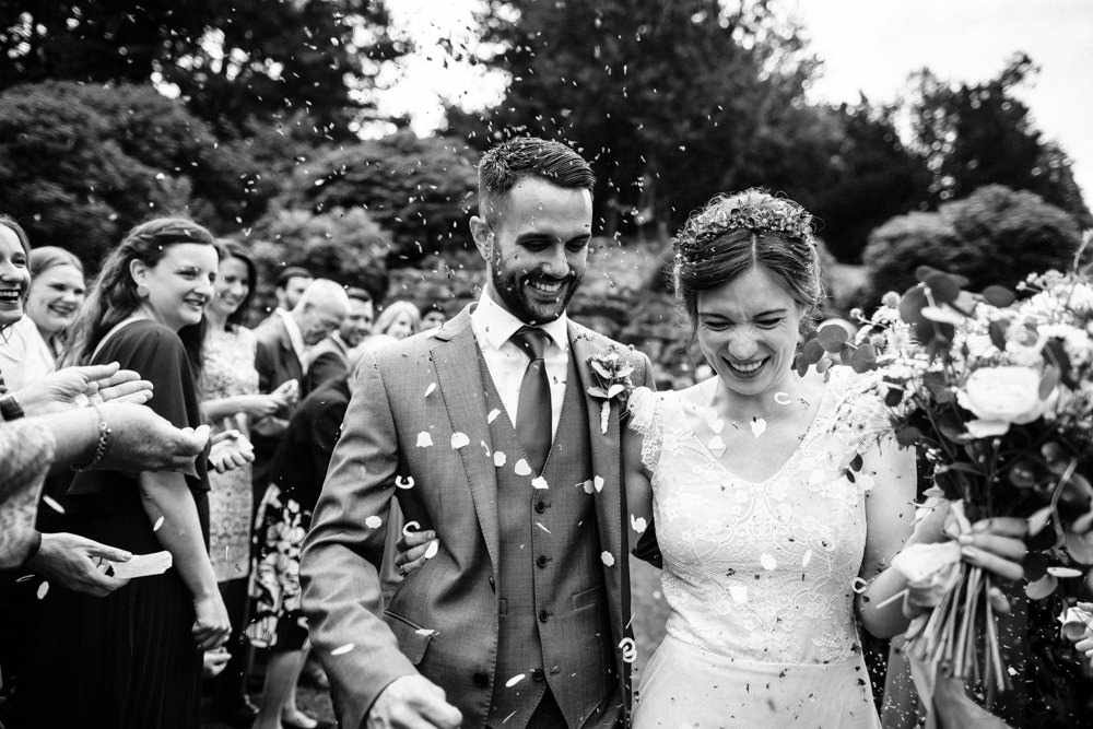 Confetti Throw Fun Laughter Relaxed Wedding Chris Barber Photography