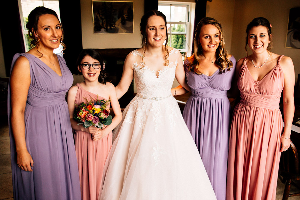Bride Bridal Lace Tulle Full Skirt Sweetheart Illusion Pink Purple Multiway Bridesmaids Fun Quirky Colourful Wedding Fairclough Studios