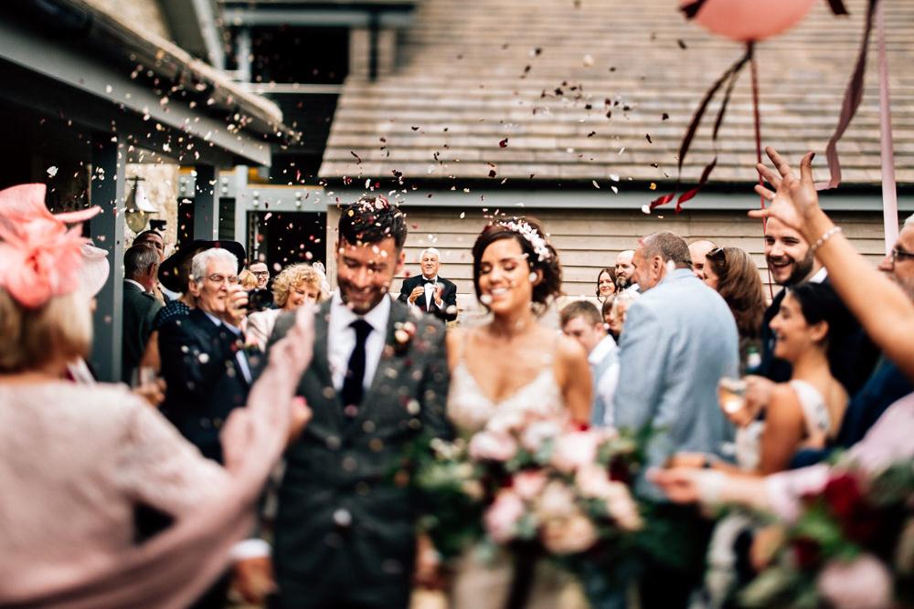 Confetti Throw Gamekeepers Inn Wedding Fairclough Studios