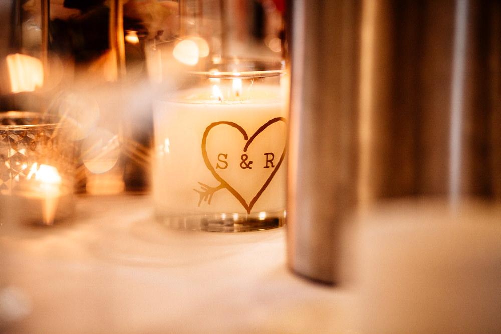 Personalised Candle Gamekeepers Inn Wedding Fairclough Studios