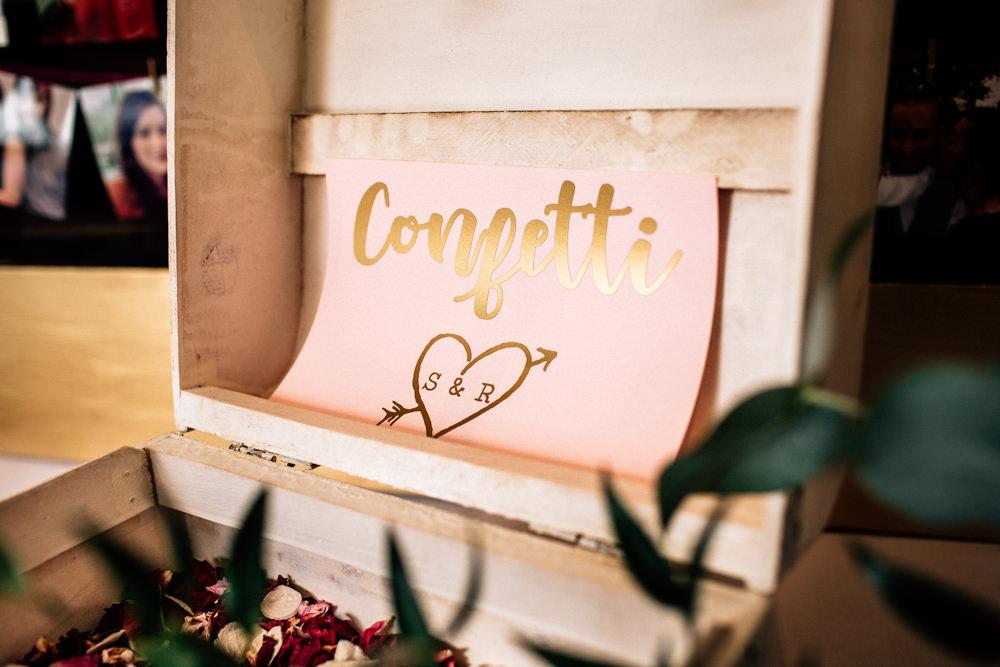 Confetti Petals Box Gamekeepers Inn Wedding Fairclough Studios