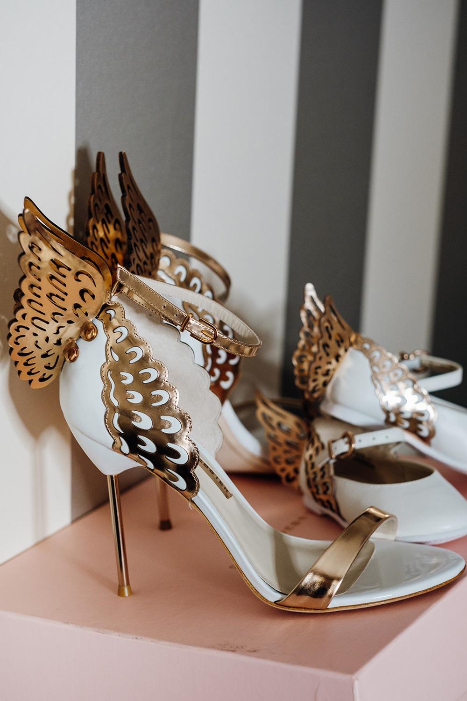 Bride Bridal Wing Shoes Kew Gardens Wedding Marianne Chua Photography