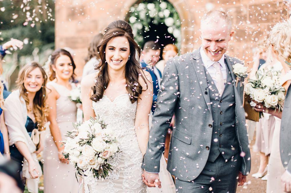Confetti Throw Llanrhaeadr Springs Wedding Jessica Reeve Photography