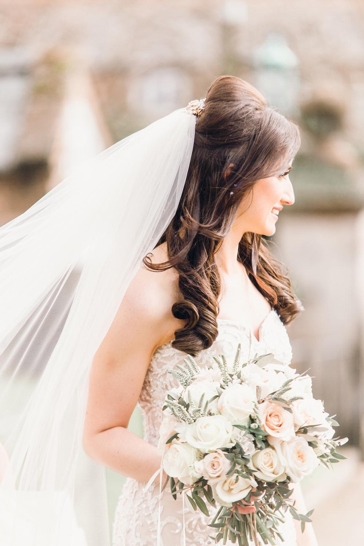 Bride Bridal Make Up Hair Veil Waves Llanrhaeadr Springs Wedding Jessica Reeve Photography